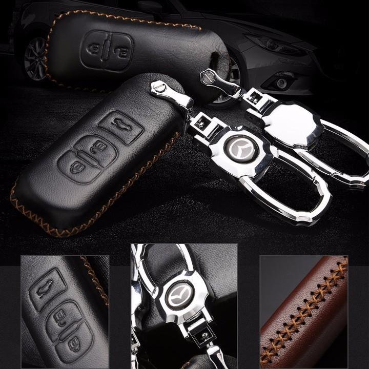 Bao da chìa khóa ô tô MAZDA 3 nút bấm 1