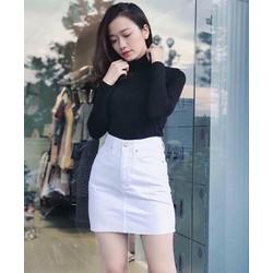 Quần váy jean kaki trắng và đen