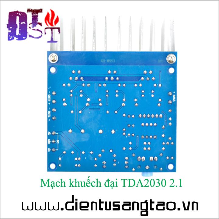 Mạch khuếch đại TDA2030 2.1 6