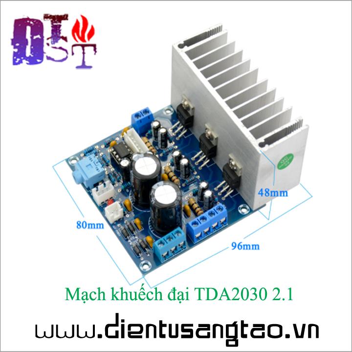 Mạch khuếch đại TDA2030 2.1 4