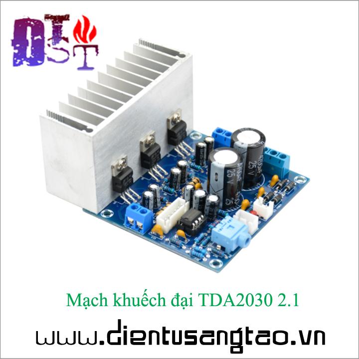Mạch khuếch đại TDA2030 2.1 3