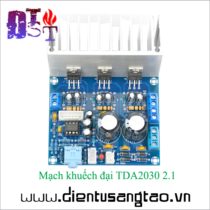 Mạch khuếch đại TDA2030 2.1 5
