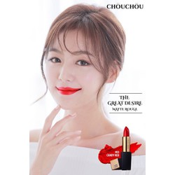 SON THỎI CHOU CHOU THE GREAT DESIRE MATTE ROUGE #03 CANDY RED