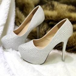 giày cao gót đính hạt