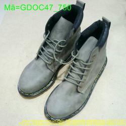 Giày doctor nam da bò cổ cao sành điệu sang trọng GDOC47