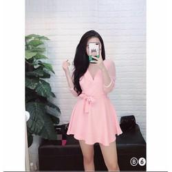 Đầm xoè thắt nơ xinh