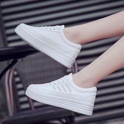 giày bata trắng đế bánh mì