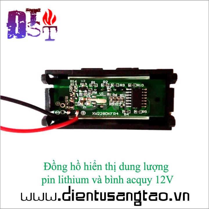 Đồng hồ hiển thị dung lượng pin lithium và bình acquy 12V 3