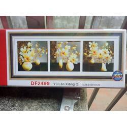Tranh đính đá bình hoa 3 bức DF2499-142x50cm