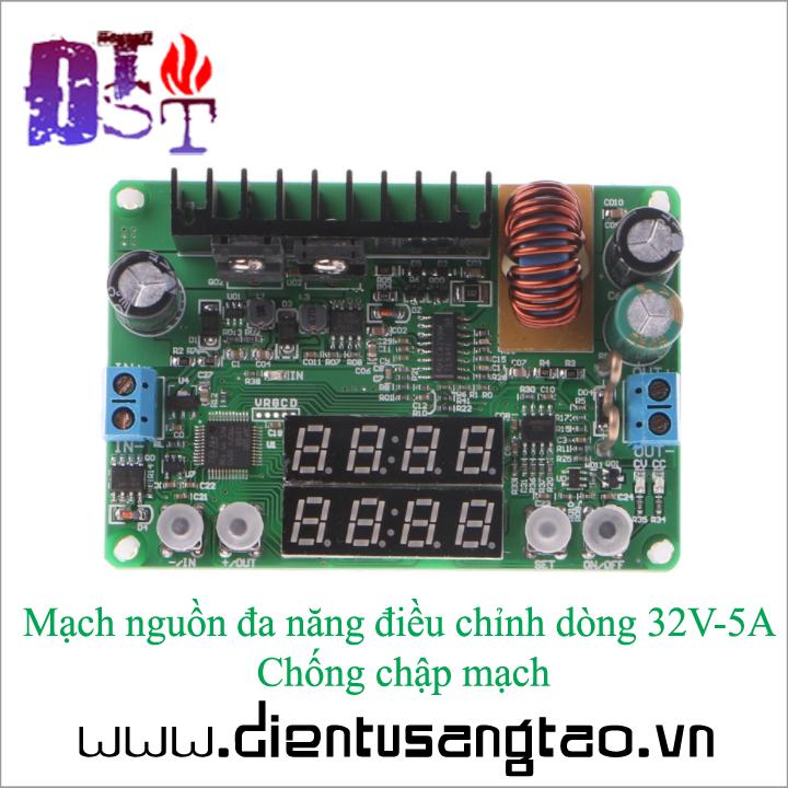 Mạch nguồn đa năng điều chỉnh dòng 32V-5A Chống chập mạch 6