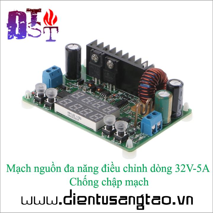 Mạch nguồn đa năng điều chỉnh dòng 32V-5A Chống chập mạch 5