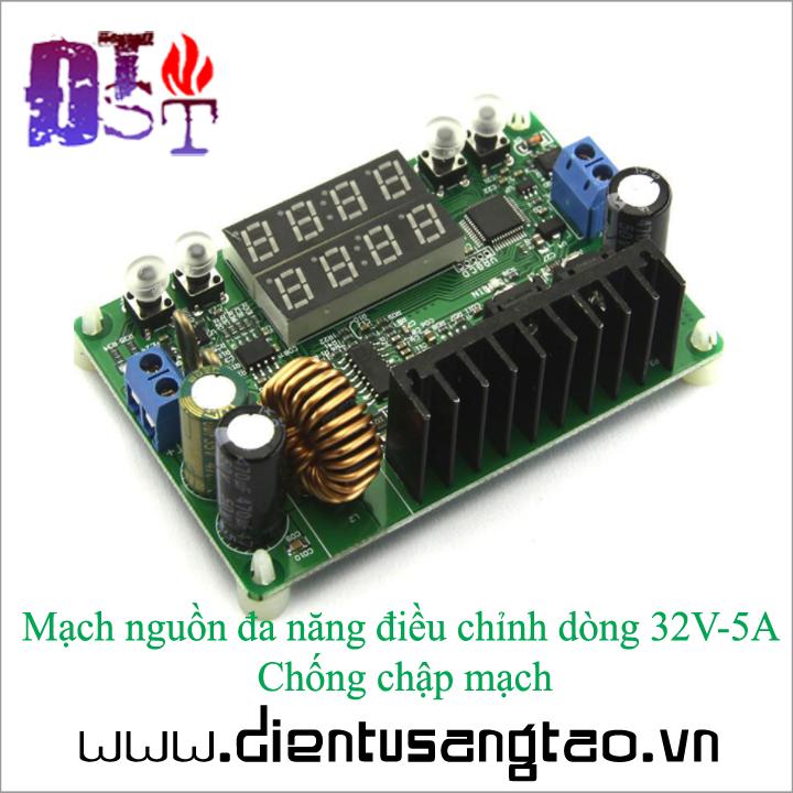 Mạch nguồn đa năng điều chỉnh dòng 32V-5A Chống chập mạch 3