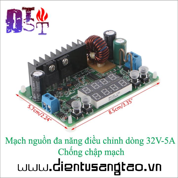 Mạch nguồn đa năng điều chỉnh dòng 32V-5A Chống chập mạch 4