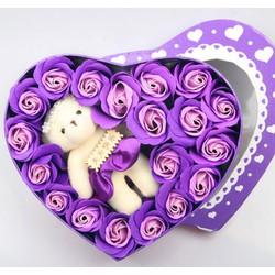 quà tặng 8 3 hoa hồng sáp thơm 17 bông