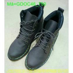 Giày doctor nam nâu cổ cao thiết kế mạnh mẽ sang trọng GDOC46