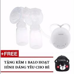 Máy Hút Sữa Điện Đôi A067 + tặng 1 balo em bé gấu đen