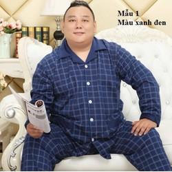 NG88188 - Bộ quần áo nam mặc nhà chất cotton cho người béo -giá 770k