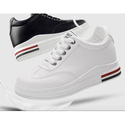 Giày snk nữ da cao cấp độn 8p siêu nhẹ siêu mềm 2 màu đen ,trắng