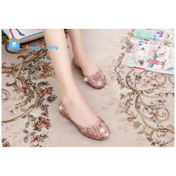 【Có bỏ sỉ 】Giày búp bê lưới kim tuyến 4 màu