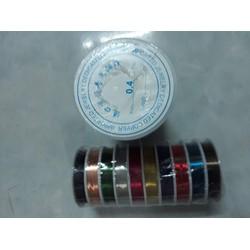 10cuộn Dây Đồng nhiều màu handmade size 0.4mm