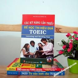Sách Các kỹ năng cần thiết để học thi hiệu quả Toeic