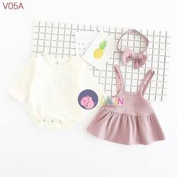 V05 - Set váy yếm cực xinh cho bé yêu