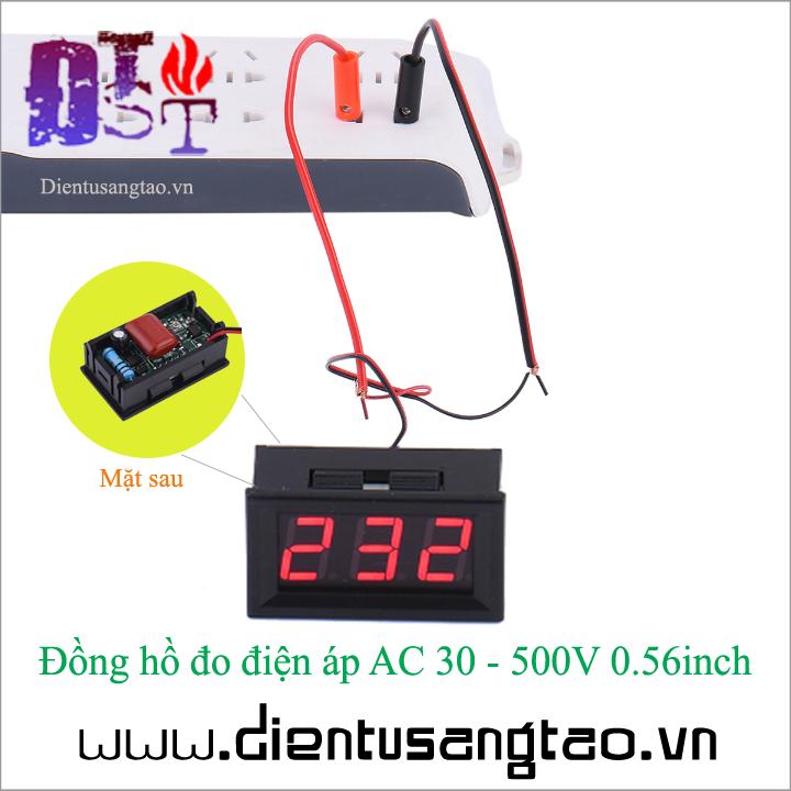Đồng hồ đo điện áp AC 30 - 500V 0.56inch 1