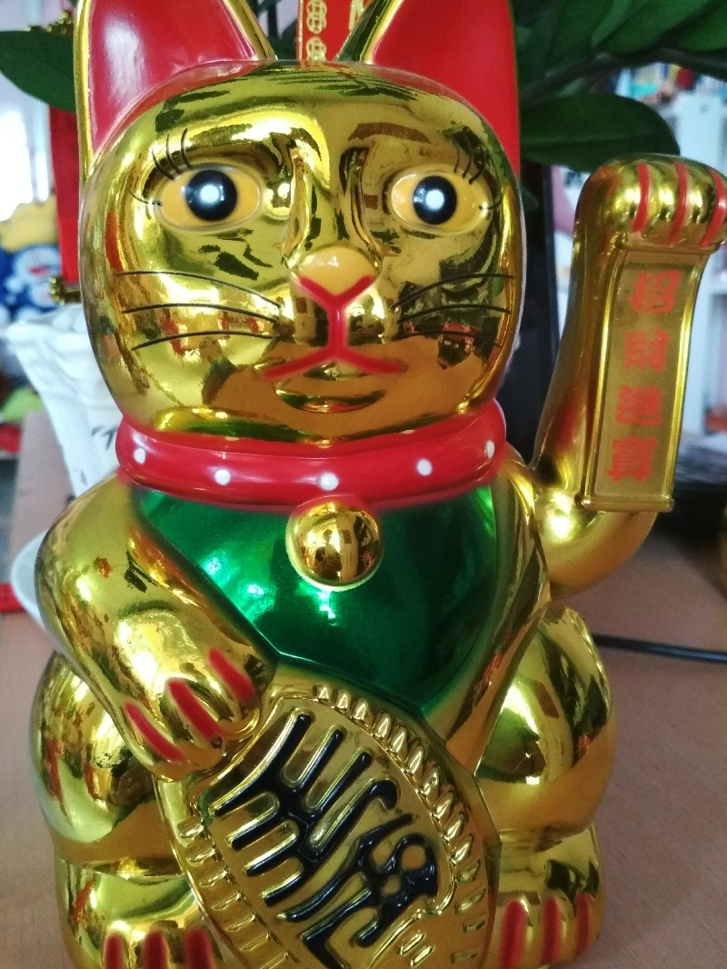 Mèo Thần Tài Vẫy Tay- Mèo Lớn 22cm 3
