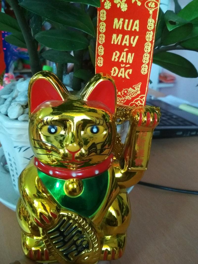 Mèo Thần Tài Vẫy Tay- Mèo Lớn 22cm 1