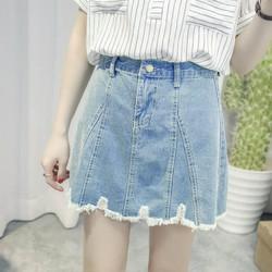 chân váy jeans rách cổ điển Mã: VN645 - XANH NHẠT