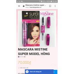 MASCARA MISTINE SUPER MODEL HỒNG