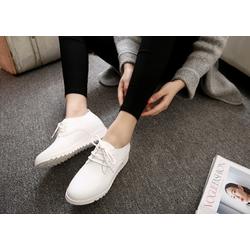 Giày SNK nữ da cao cấp  siêu mềm nhẹ da màu trắng độn 5p