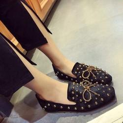 Giày búp bê nơ vàng