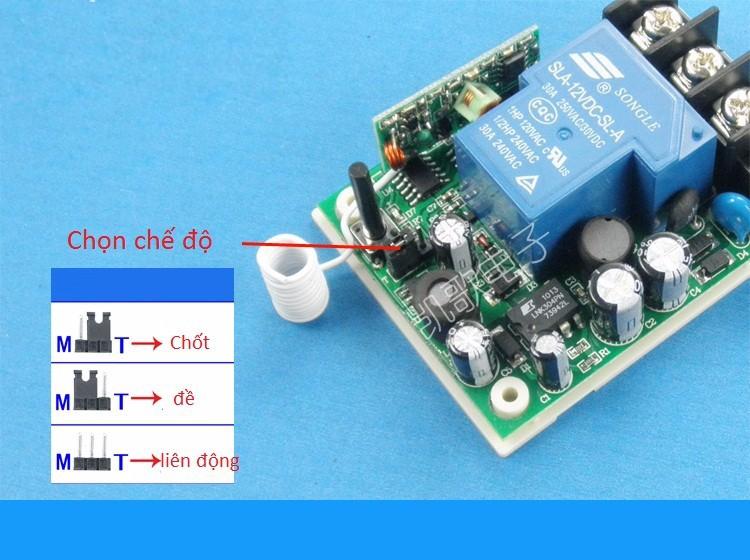 Bộ điều khiển thiết bị điện từ xa 1 kênh 220V công suất lớn 2