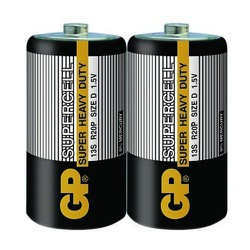 Hộp 10 vỉ pin carbon cỡ đại D GP Supercell - vỉ 2 viên