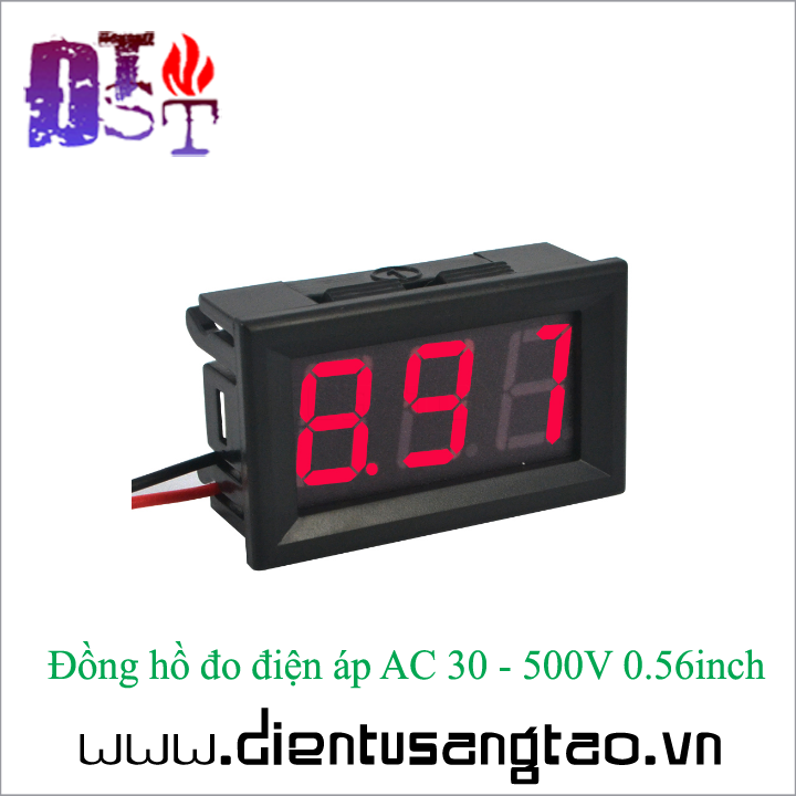 Đồng hồ đo điện áp AC 30 - 500V 0.56inch 4