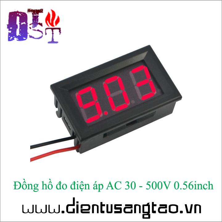 Đồng hồ đo điện áp AC 30 - 500V 0.56inch 6