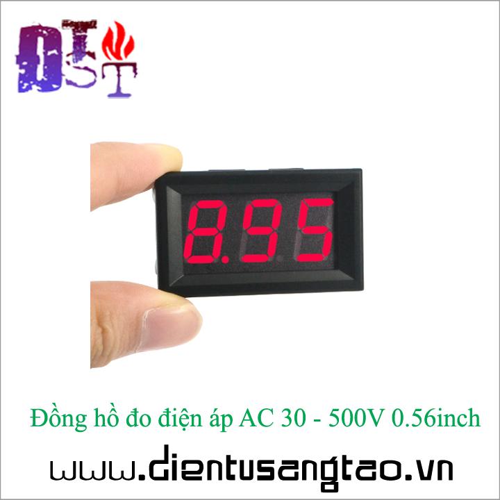 Đồng hồ đo điện áp AC 30 - 500V 0.56inch 3
