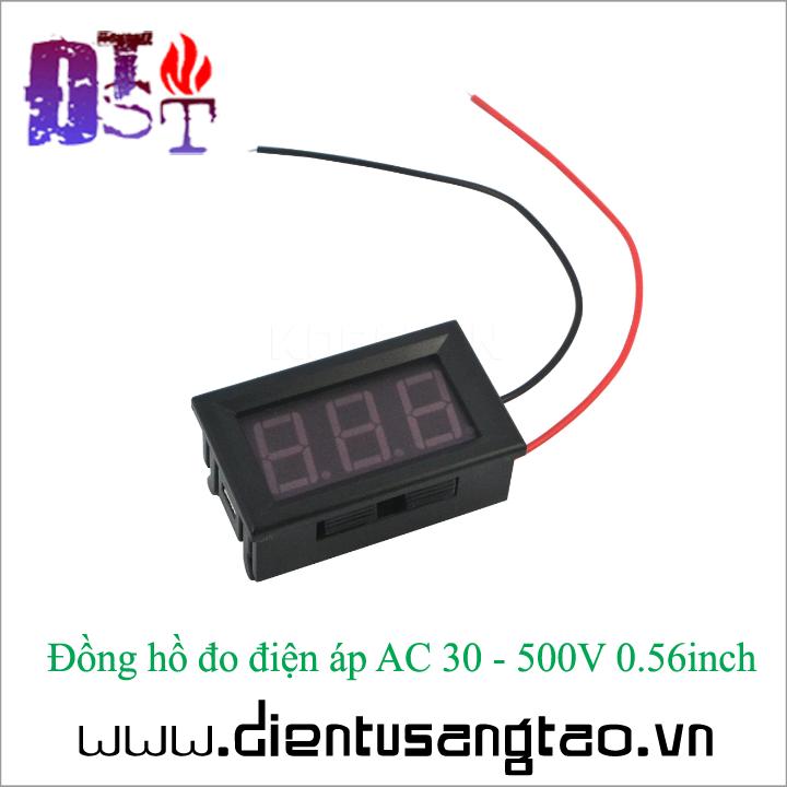 Đồng hồ đo điện áp AC 30 - 500V 0.56inch 5
