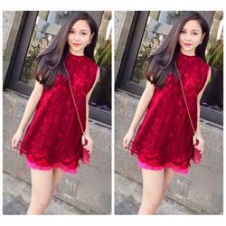 Đầm ren suông xinh xắn