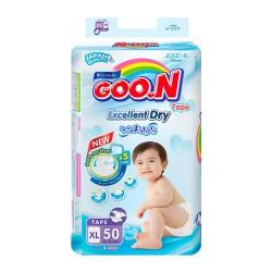 Bỉm Tã dán Goon Renew SLIM XL50 miếng cho bé 12 - 20kg