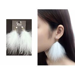 Bông tai lông vũ thời trang