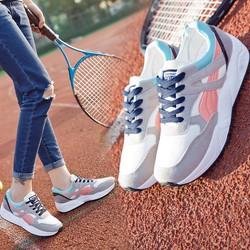 Giày thể thao sneaker nữ 4 màu hồng, xanh, trắng, xám
