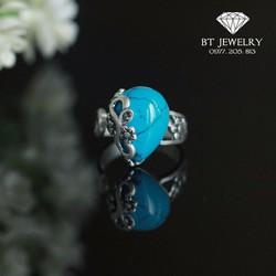 Nhẫn Ngọc Nữ Đính Đá Chất Liệu S925 Thái Lan Cao Cấp