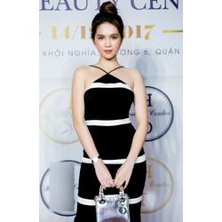 Chuyên sỉ - Đầm yếm ôm body Ngọc Trinh thiết kế viền trắng