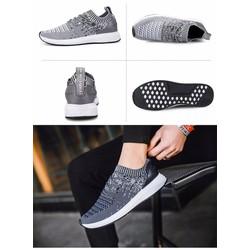 Giày thể thao - giày nam tăng chiều cao cổ chun cao cấp