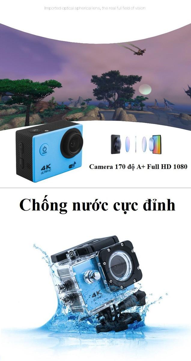 Camera hành trình, hành động Sport cam Wifi 4K ULTRA HD 8