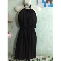 Đầm voan cổ yếm cột nơ y hình
