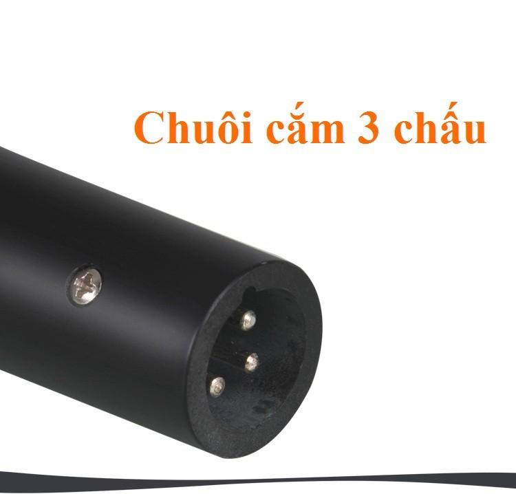 Micro có dây 3.5 m XINGMA AK-319 Nhập khẩu Đen cho âm li loa kẹo kéo 5