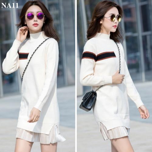 Đầm len cao cấp phong cách Hàn Quốc NA11_Hàng Nhập